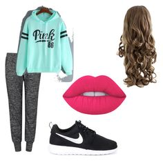 """Untitled #14"" by leilaniconklin on Polyvore featuring Velvet by Graham & Spencer, NIKE and Lime Crime"