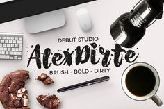 AlexDirte Brush Font by Debut Studio on @creativemarket