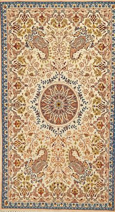 Isphahan rug  South Central Persia  circa 1920  size approximately 2ft. 7in. x 4ft. 8in.