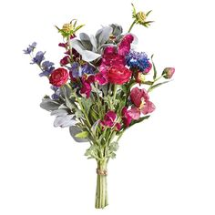 Enjoy an eternal spring with our wonderfully realistic bouquet of spring flowers, featuring sweet peas in vibrant pinks and purples, ranunculus, scabiosas and foliage. Pop them in a simple glass vase and add water if you want to create the illusion they are the real thing; we promise no-one will be able to tell the difference.