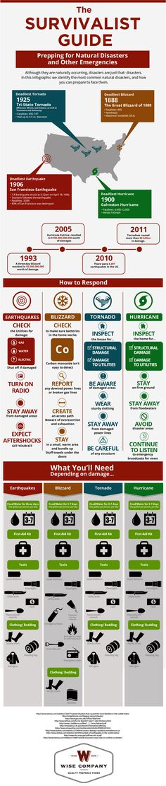 Survivalist Guide Infographic | Wise Food Storage