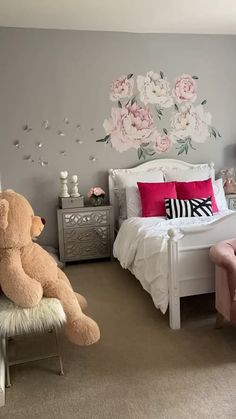 Girls Room Design, Kids Bedroom Designs, Room Design Bedroom, Home Room Design, Bedroom Decor, Interior Design Living Room, Modern Interior, Teen Room Decor, Diy Room Decor