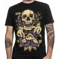 "#NEW in the #Inked #Shop: ""Snake Charmer"" #Tee by Secret Artist  #mens #clothing #skull #snake #art #menswear #InkedShop"