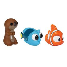 "Disney Pixar Finding Dory Bath Squirters 3 Pack - Little Dory, Nemo, and Otter - Bandai - Babies ""R"" Us"