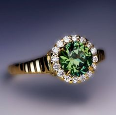 Rare 1.23 Ct Russian Demantoid Diamond Engagement Ring - Antique Jewelry | Vintage Rings | Faberge Eggs