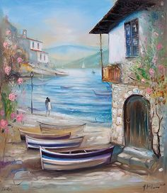 Pavel Mitkov ~ Pintor Impressionist – Pinturas do AUwe – Join in the world of pin Watercolor Landscape, Landscape Paintings, Watercolor Paintings, Beautiful Paintings, Beautiful Landscapes, Beautiful Wall, Tableau Pop Art, Art For Art Sake, Pictures To Paint