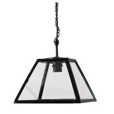 USINE glass and metal pendant lamp in black D 28cm