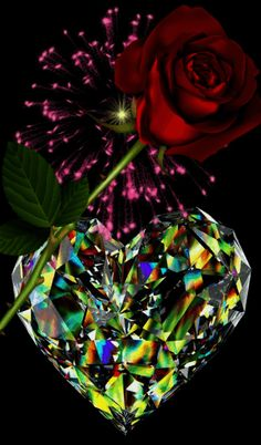 Blue Roses Wallpaper, Flower Phone Wallpaper, Heart Wallpaper, Flowers Gif, Beautiful Rose Flowers, Love Flowers, Love Heart Images, Love You Images, Beautiful Love Pictures