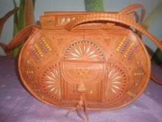 MOROCCAN BAG tooled #Handmade