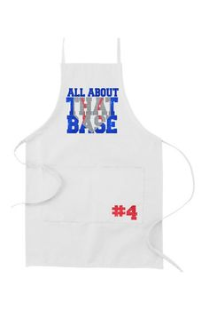 Baseball Apron, All About That Base, Mother's Day, Father's Day, Apron, BBQ Apron, Dad, BBQ, Grilling, Men's Apron by flyinshirer on Etsy