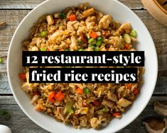 12 Restaurant-Style Fried Rice Recipes Rice Recipes, Asian Recipes, Chicken Recipes, Cooking Recipes, Ethnic Recipes, Group Recipes, Custard Recipes, Chinese Recipes, Delicious Recipes