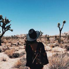 desert, fashion, and joshua tree national park image