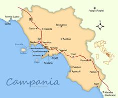 Campania Maps and Travel Guide | Wandering Italy