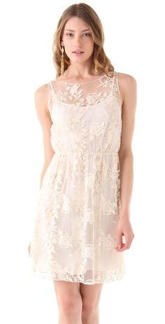 alice + olivia Darcy Lace Layover Dress. tried it on today- so pretty!