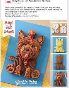 puppy dog terrier childs cake picture tutorial, easy how to make cute birthday cake #DIY #decorating