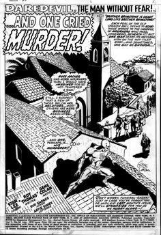 Daredevil #66 splash page by Gene Colan & Syd Shores