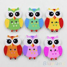 50PCS-NEW-ARRIVAL-SEWING-CHICKENS-OWL-CARTOON-WOOD-BUTTONS-KIDS-DIY-KNOPF-BOUTON