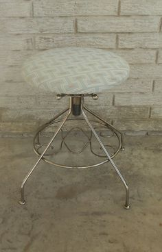 Adjustable Height. Funky Vanity Stool Makeup Table Chair Cushioned By  MakingMidCenturyMod, $75.00