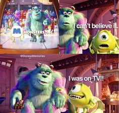 Monsters, Inc. oh Mikey Disney Animated Movies, Pixar Movies, Funny Movies, Disney Movies, Disney Fun Facts, Cute Disney, Disney And Dreamworks, Disney Pixar, Monsters Inc University