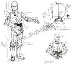 handmade pour tout support coton dessin réalise au trait levé rappelant un robot connu supajosh.fr