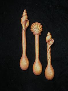 Architectural Woodcarving by Susana Caban: Hand Carved Wooden Spoons by Susana Caban