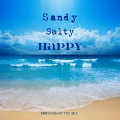 Sandy, salty, stinky, sweaty...Run for your life to the car for air conditioning:))