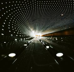 10-minute pinhole exposure of the walkway concourse at the National Gallery of Art in Washington, D.C.