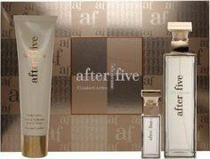 5th Ave After Five by Elizabeth Arden for Women 3 Piece Set Includes: 2.5 oz Eau de Parfum Spray + 0.33 oz Eau de Parfum Spray + 3.3 oz Moisturizing Body by Elizabeth Arden. Save 38 Off!. $39.06. 2.5 fl. oz. Eau de Parfum Spray. 3.3 fl. oz. Body Lotion. .33 fl. oz. Touch-on Parfum. 5th avenue after five is a modern oriental that will take you effortlessly from day into night. Incredibly sensual, totally unexpected. Available in a three-piece set.   2.5 fl. oz. Eau de Parfum Spray  ...