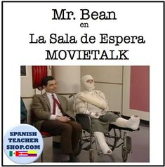 """This MovieTalk features a youtube video from Mr. Bean in a hospital waiting room and features the vocabulary structures for """"waits"""", """"moves"""", and """"in a cast"""". This product includes a 3 day lesson plan which includes a one page reading, an activity of putting events in order, as well as labeling vocabulary from the story, and 2 options for student re-telling, including one with screen shots to prompt students.The reading is written for novice students, but you can adapt it for all levels."""