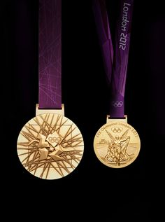 The gold medal design for the London Olympics