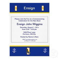 Invites for Navy Commissioning Party Graduation Celebration, Graduation Party Invitations, Invites, Second Lieutenant, Military Academy, Cap And Gown, Patriotic Party, Graduation Announcements, Rsvp