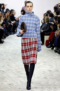 Obsessed with updating a plaid skirt for Fall via Celine. I can't manage plaid on plaid though.