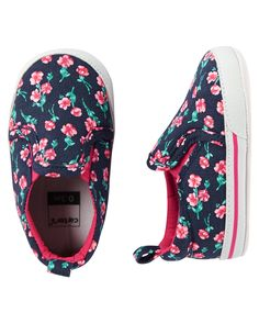 Carter's Floral Slip-On Crib Shoes