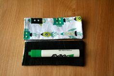 Dry Erase Marker Holder/Eraser for Students by HandmadebyKerryV