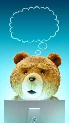 ↑↑TAP AND GET THE FREE APP! Lockscreens Art Creative Bear Ted 2 Is Coming Fun Movie Cinema Blue HD iPhone 6 Lock Screen