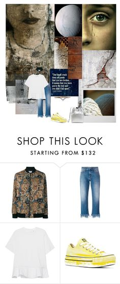 """""""Mended"""" by sue-mes ❤ liked on Polyvore featuring Yves Saint Laurent, MSGM, Victoria, Victoria Beckham, Mansur Gavriel, Converse and Diamonds Unleashed"""