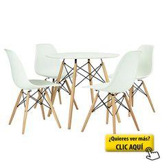 FurnitureR Juego de Set de comedor diseño Retro... #mesa #redonda