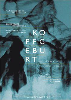 Kopfgeburt #poster #typography #design