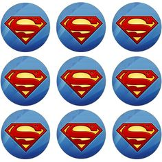 superman cupcake labels - Google Search