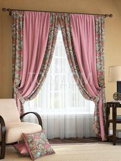 """Комплект штор """"Розиус (розово-коричневый)"""": купить комплект штор в интернет-магазине ТОМДОМ #томдом #curtains #шторы #interior #дизайнинтерьера"""