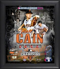 Matt Cain San Francisco Giants 2017 World Series Framed Collage With Used Baseball L Of 500