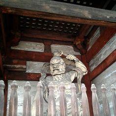 Agyo guardian statue, Ninnaji temple, Kyoto