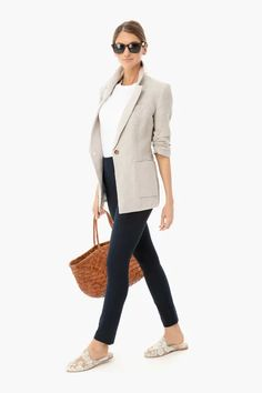 The Summer Tuckernuck Collection Tan Blazer, Linen Blazer, Linen Shorts, Summer Office Looks, Blazer Outfits For Women, Work Outfits, Casual Outfits, Pant Shirt, Black Cotton