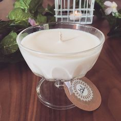 Gorgeous scented soy candle from our recycled Vintage Collection.