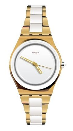 Swatch Yellow Pearl Ladies Watch YLG122G Swatch. Save 30 Off!. $105.70. Dial color: white. Band color: gold. Model: YLG122G. Condition:brand new with tags. Brand:SWATCH
