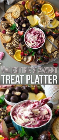 Deluxe Valentine's Sweet Treat Platter | Vegan Yack Attack