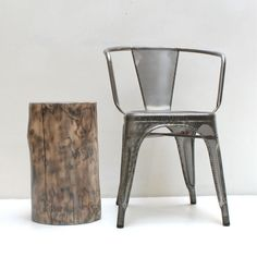 Tahoe Gray Tree Stump Table End Coffee Plant Art by realwoodworks1, $290.00
