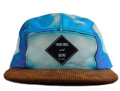 Cloudy 5-Panel Cap by YOUNG KINGS & QUEENS