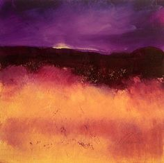 Violet Sunset by Richard Morin Oil ~ 12 x 12