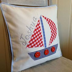 Applique Boat Cushion